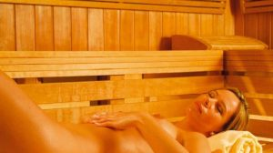 Sauna schwitzen
